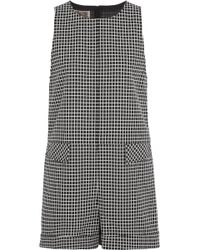 Giambattista Valli - Checked Cotton Playsuit - Lyst