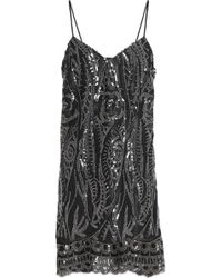 Anna Sui - Embellished Tulle Mini Dress - Lyst