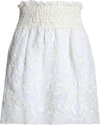 Magda Butrym - Cusset Embroidered Silk-voile Mini Skirt - Lyst