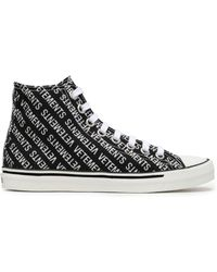 ff77bae8a0b Vetements - Woman Embellished Printed Canvas High Top Sneakers Black - Lyst