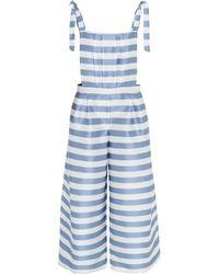 Vivetta - Pleated Striped Twill Jumpsuit - Lyst