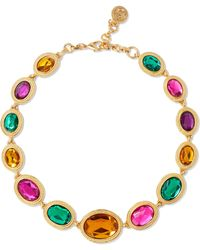 Ben-Amun - Woman Gold-tone And Crystal Necklace Gold - Lyst