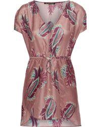 ViX - Agata Printed Cotton And Silk-blend Mini Dress - Lyst