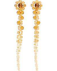Ben-Amun - Beaded Silver-tone Earrings - Lyst