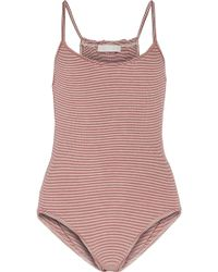 Kain - Marielle Striped Stretch-modal Bodysuit - Lyst