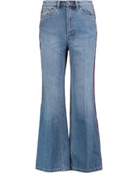 Marc By Marc Jacobs - High-rise Cropped Wide-leg Jeans - Lyst