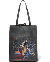 Just Cavalli - Printed Faux Leather Tote - Lyst