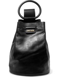 Just Cavalli - Leather Backpack - Lyst