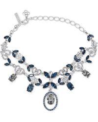 Oscar de la Renta | Silver-tone Crystal Necklace | Lyst