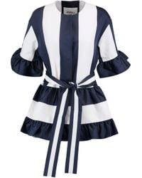 Goen.J | Ruffle-trimmed Paneled Tiered Chambray Jacket | Lyst