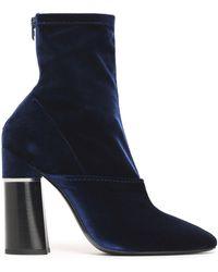3.1 Phillip Lim - Kyoto Velvet Ankle Boots - Lyst