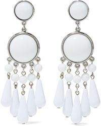 Ben-Amun - Bead, Resin And Silver-tone Earrings - Lyst