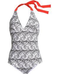 I.D Sarrieri - Printed Halterneck Swimsuit - Lyst
