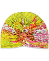 Roberto Cavalli - Ruched Printed Jersey Turban - Lyst