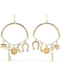 Noir Jewelry - Woman Gold-tone Earrings Gold - Lyst