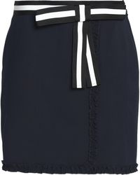 Raoul - Ruffled Color-block Crepe De Chine Mini Skirt - Lyst