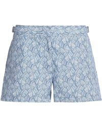 Orlebar Brown - Printed Shell Shorts - Lyst