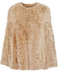 Karl Donoghue - Alpine Leather-trimmed Shearling Cape - Lyst