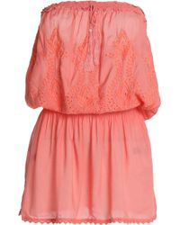 Melissa Odabash - Fruley Strapless Broderie Anglaise Voile Mini Dress - Lyst