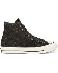 Converse - Woven Suede High-top Trainers - Lyst