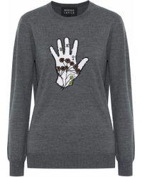 Markus Lupfer - Natalie Embellished Intarsia Merino Wool Sweater - Lyst