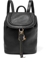 Diane von Furstenberg - Love Power Chain-trimmed Textured-leather Backpack - Lyst