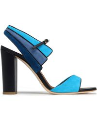 Malone Souliers - Leather And Color-block Suede Sandals - Lyst