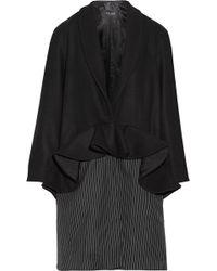 Paper London - Plot Ruffled Wool-blend And Pinstriped Twill Coat - Lyst