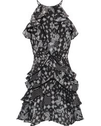 Marissa Webb - Andrea Ruffled Printed Georgette Mini Dress - Lyst
