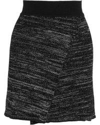 Isabel Marant - Cashlin Wrap-effect Stretch-knit Mini Skirt - Lyst