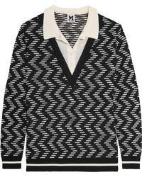 M Missoni - Layered Crochet-knit Jumper - Lyst