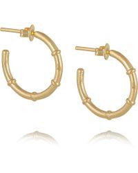Arme De L'Amour - Gold-plated Hoop Earrings - Lyst