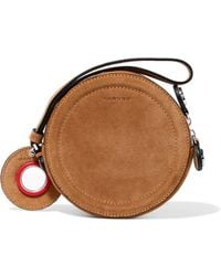 Carven - Eyelet-embellished Suede Pouch - Lyst