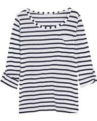 Splendid - Venice Striped Slub-jersey Top - Lyst