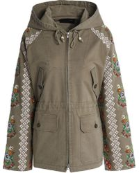Needle & Thread - Embroidered Cotton-blend Twill Hooded Jacket - Lyst