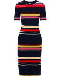 eb4d26bb531 Iris   Ink - Woman Poppy Striped Ribbed Wool-blend Dress Multicolour - Lyst