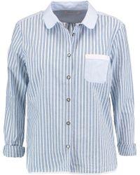 Chinti & Parker | Poplin-paneled Striped Cotton-voile Shirt | Lyst