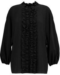 Dolce & Gabbana - Ruffled Silk Blouse - Lyst