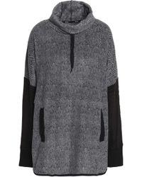 DKNY - Fleece Hooded Sweatshirt - Lyst