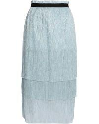 Maje - Tiered Metallic Knitted Midi Skirt - Lyst