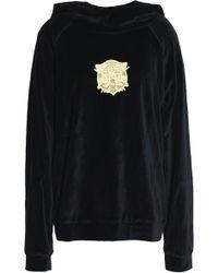 Roberto Cavalli - Embroidered Modal-blend Chenille Hooded Sweatshirt - Lyst