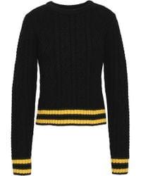 A.L.C. - Alpha Striped Merino Wool-blend Jumper - Lyst