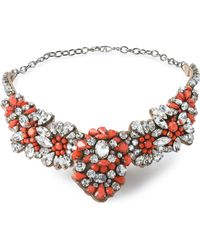 Valentino - Crystal, Stone And Satin Necklace - Lyst