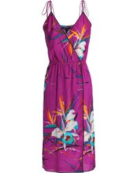 Marc Jacobs - Wrap-effect Bow-detailed Printed Woven Dress - Lyst