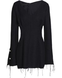 Mother Of Pearl - Faux Pearl-embellished Frayed Tweed Mini Dress - Lyst