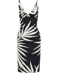 MILLY - Woman Liz Printed Cotton Dress Black - Lyst