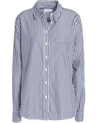 Equipment - Embroidered Striped Cotton-poplin Shirt - Lyst