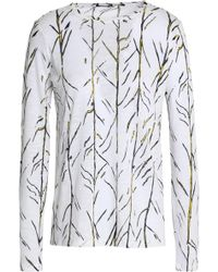 Proenza Schouler - Printed Slub Cotton-jersey Top - Lyst