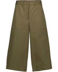 SUNO - Cotton-canvas Shorts Army Green - Lyst