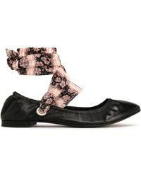 Claudie Pierlot - Floral-print Leather Ballet Flats - Lyst